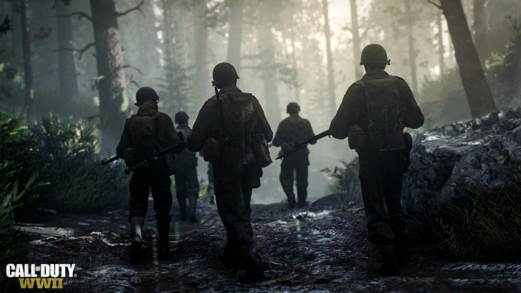 Imagen promocional para la crítica del videojuego de Call of Duty: World War 2 donde se hacía hincapié en el realismo del juego.