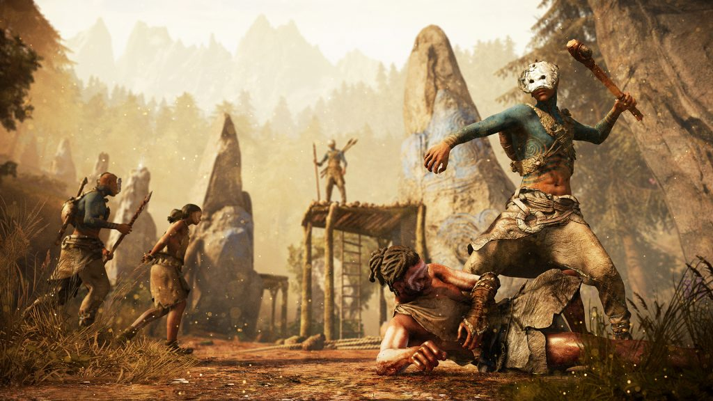 Figura. Imagen promocional del videojuego Far Cry Primal. Masculinidades primitivas en el videojuego.