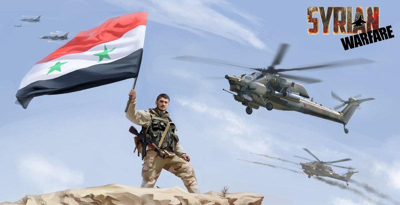 Arte promocional del videojuego Syrian Warfare, una muestra de la relación entre la Guerra de Siria y los videojuegos donde no se intenta comprender y explicar el conflicto.