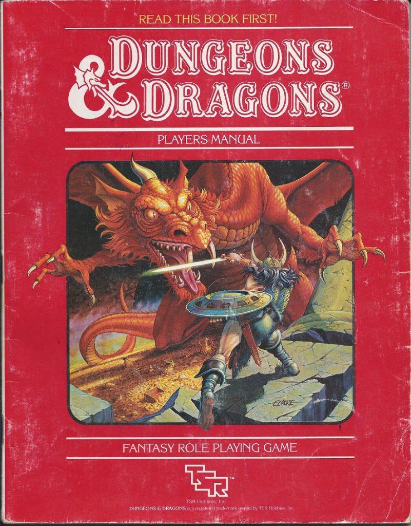 Portada de la primera edición del juego de rol Dungeons & Dragons. Roles en los juegos independientes.
