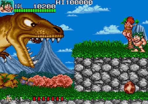 Figura: Captura de pantalla de Joe & Mac: Caveman Ninja (1991). Masculinidad primitiva en el videojuego.