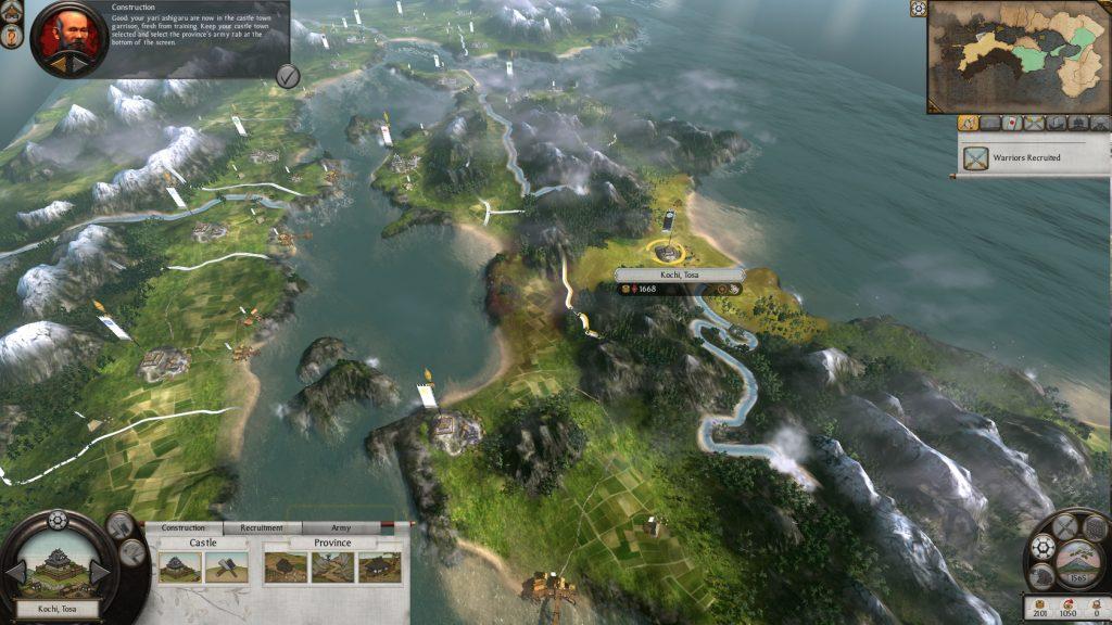Captura de pantalla de Shogun: Total War 2, un videojuego histórico que cuenta con millones de unidades vendidas.