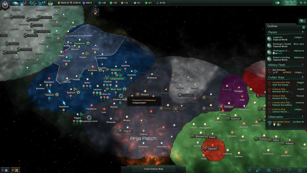 ciencia ficción en Stellaris